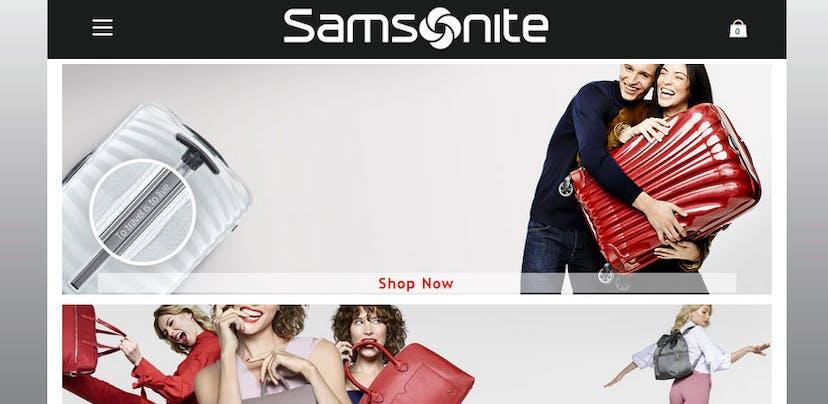 Samsonite alerta consumidores para fraudes na Internet