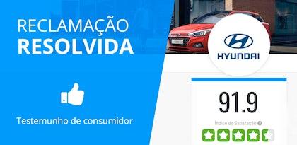 Hyundai: Avaliação de satisfação com máxima pontuação