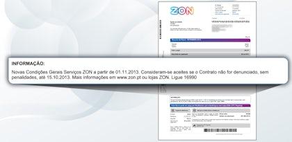 Novas condições para clientes ZON